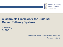 Defining High-Quality Career Pathway Systems