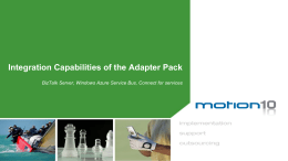 Adapter Pack Integration Capabilities