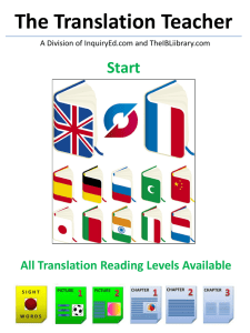 Teacher Overview - The Translation Teacher