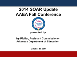 AAEA Fall Conference SOAR Presentation