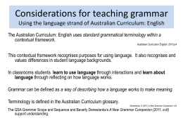 Teaching Grammar in Context Powerpoint