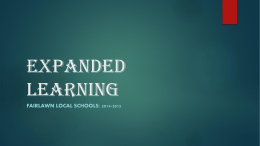 Expanded Learning PowerPoint