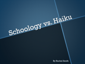 Schoology vs. Haiku Demo