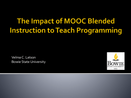 The Impact of MOOC Blended Instruction to Teach Programming