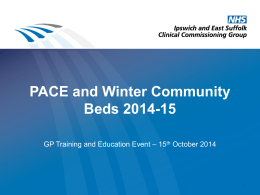 Community Beds - Ipswich and East Suffolk CCG