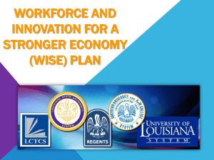 Louisiana Workforce Innovation Council (PPT)