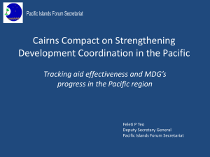 Cairns Compact in Strengthening Development Coordination in the