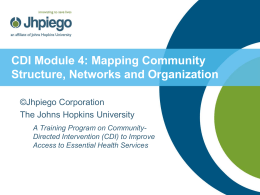 Mapping Community Structure, Networks and