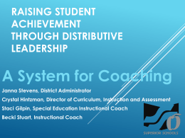 Raising Student Achievement Through Distributive Leadership: A