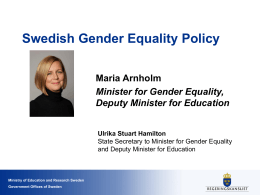 Swedish Gender Equality Policy
