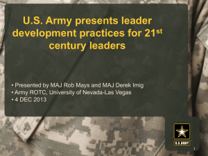 Army Leadership Development
