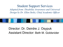 Overview of Disabilities for Paraprofessionals