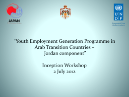 *Youth Employment Generation Programme in Arab Transition