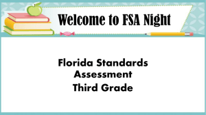 Welcome to FSA Night - Mater Beach Academy