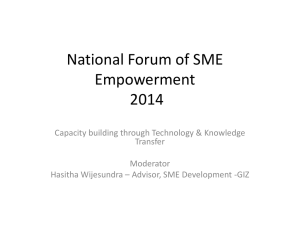National Forum of SME Empowerment 2014