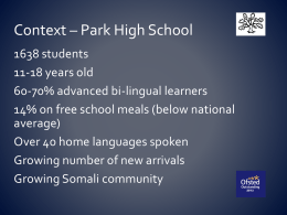 Context – Park High School