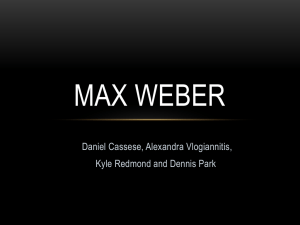 Max Weber - Richview Business Department