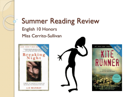 Summer Reading Review English 10 Honors