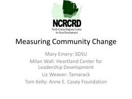 Measuring Community Change