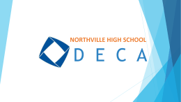 Parent Meeting Presentation - Northville High School DECA