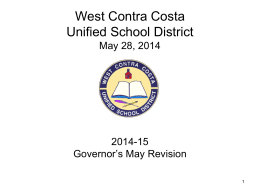 Presentation: 5-28-2014 - West Contra Costa Unified School District