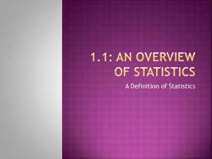 1.1: An Overview of Statistics