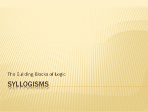 Syllogisms 2014
