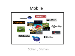 Mobile - Computer Game Platforms and Technologies