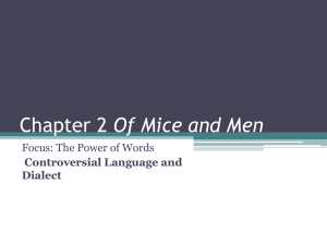 Chapter 2 Of Mice and Men