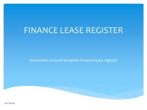 fixed asset register - KGG Financial reporting, Group accounting, IFRS