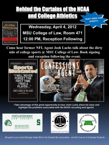 Wednesday, April 4, 2012 MSU College of Law