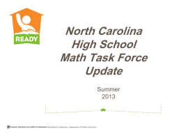 High School Math Pathway, July 9, 2013