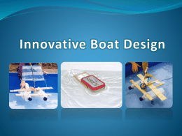 Innovative Boat Design