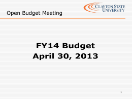 Open Budget Meeting April 2013