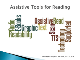 Assistive Technology for Reading PPT