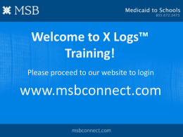 X-Logs Training PowerPoint