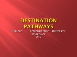 Destination Pathways 2010