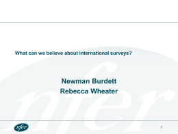 So what can we believe about international surveys?