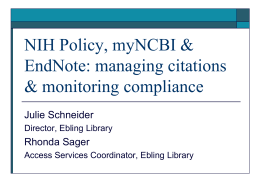 NIH Mandatory Public Access Policy : information