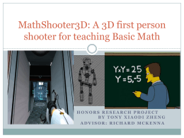 MathBlaster 3D: An educational game for