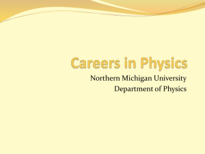 Careers in Physics - Northern Michigan University