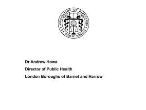 Dr Andrew Howe, Director of Public Health, Brent and