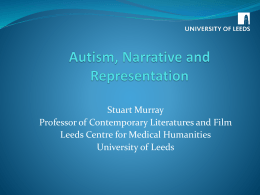 Autism, Narrative and representation