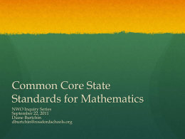 Newly Revised Ohio Academic Content Science Standards