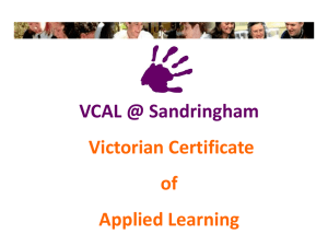 VCAL @ Sandy Senior 2012