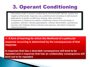 U4- Learning 5 - Operant Conditioning