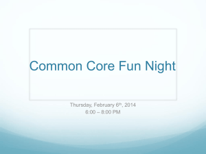 Family Reading/Math/STEM/Common Core Night