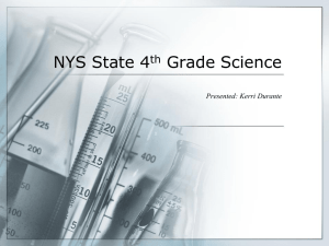 NYS State 4th Grade Science