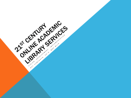 New Millennia Online Academic Library Services