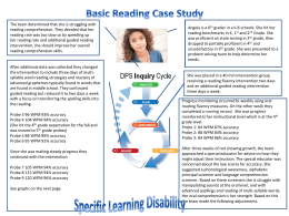 Reading SLD case studies - DPS